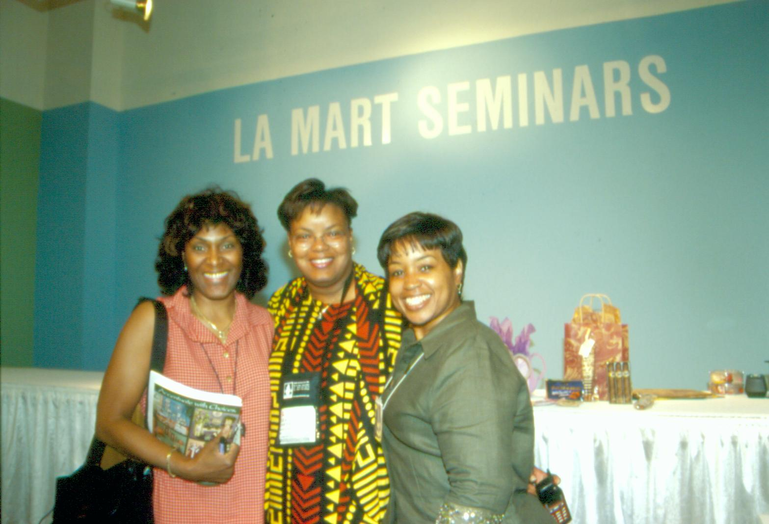 Shirley George Frazier speaking at the LA Mart.
